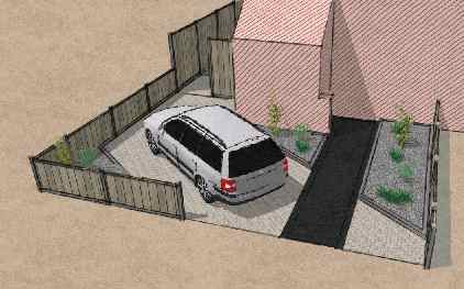 Tuin for Oprit ontwerp