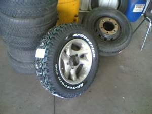 New tyre's on rim
