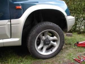 Wheel back on
