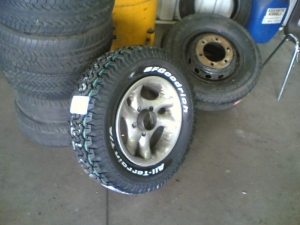 New tyre's on rim