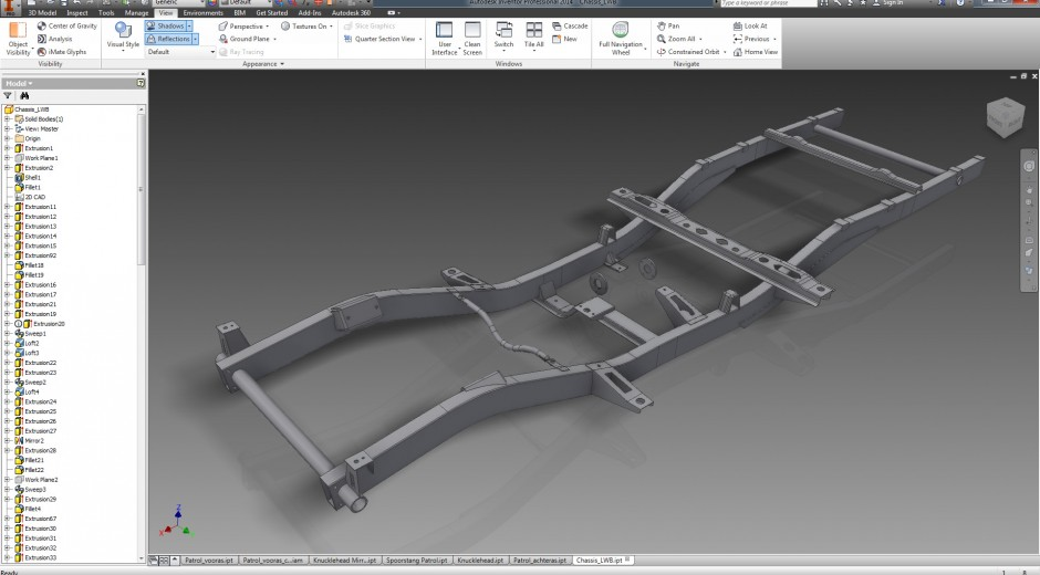 Part 7: Drawing the chassis and axles